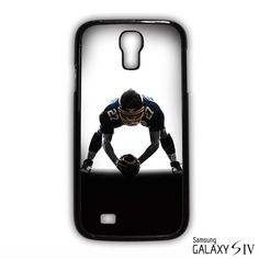 Center american football player man silhouette for Samsung Galaxy S3/4/5/6/6 Edge/6 Edge Plus phonecases