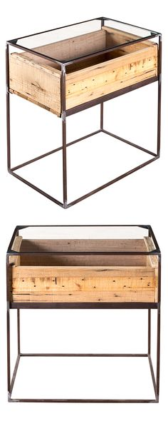 You really can never have too much storage space. Not only is this rustic Hart Box Side Table rich with character, but it offers convenient storage potential in its wooden compartment. This table is ha... Find the Hart Box Side Table, as seen in the The Industrial Botanist Collection at http://dotandbo.com/collections/the-industrial-botanist?utm_source=pinterest&utm_medium=organic&db_sku=118259