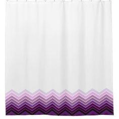 Purple & Pink Zigzag - Shower Curtain