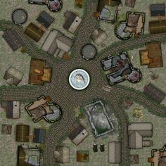 Abandoned City Square from Cartographers' Guild