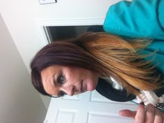 New red to blonde ombré, I did this! :) love it!