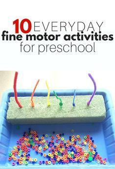 10 Everyday Fine Motor Activities for Preschool