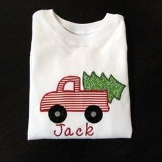 Personalized Boys Christmas Truck Applique Shirt $24.00 or DIY