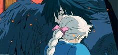 howl's moving castle gif. this melts my heart.