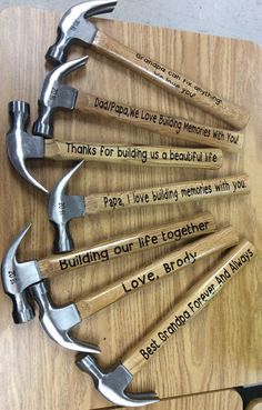 Personalized Hammer, Gift for men, Father's Day, Christmas, for him, vinyl hammer, men gifts, for men, Valentine's Day, Wedding, New Home by IAmCreationsbyIvy on Etsy https://www.etsy.com/listing/236185120/personalized-hammer-gift-for-men-fathers
