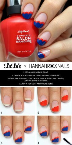 Cute Nail Art Tutorial - Head over to Pampadour.com for more fun and cute nail art designs! Pampadour.com is a community of beauty bloggers, professionals, brands and beauty enthusiasts! #nails #nailpolish #polish #nailart #naildesign #cute #fun #pretty #howto #tutorial #beauty #spring #manicure