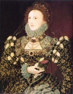 Elizabeth I, The Phoenix Portrait, by Nicholas Hilliard, 1575