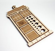 Dr Who Knitting Gauge $11.50...two worlds collide <--THROWING AWAY ALL OTHER GAUGES NOW.