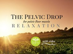 "The ""pelvic drop"" - a simple technique to RELAX your pelvic floor muscles and release excess tension. It's like a tropical vacation for your pelvic floor..."