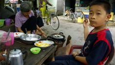 A good scene from cycling and eating in Southern Vietnam