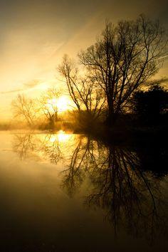 "lsleofskye: "" misty sunrise over the weir """