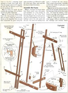 DIY Art Easel - Woodworking Plans and Projects - Woodwork, Woodworking, Woodworking Plans, Woodworking Projects Wood Crafts, Diy And Crafts, Diy Wood, Woodworking Plans, Woodworking Projects, Art Easel, Wood Construction, Diy Art, Easels