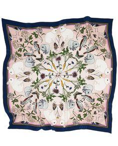Spring Peach silk scarf - Silken Favours