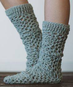 Love this Dusty Teal Crochet Leather Bottom Slippers by Three Bird Nest on #zulily! #zulilyfinds