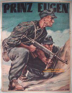 Nazi recruitment poster for 7th SS Volunteer Mountain Division Prinz Eugen.