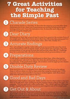 7 Great Activities for Teaching the Simple Past