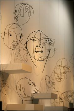 "Few exhibitions have focused so intently on one artist's child within as ""Alexander Calder: The Paris Years, at the Whitney Museum of American Art. Sculpture Lessons, Sculpture Art, Abstract Sculpture, Wire Sculptures, Bronze Sculpture, Alexander Calder, Whitney Museum, Kinetic Art, Shadow Art"