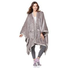 Concierge Collection Soft  amp  Cozy Glimmersoft Angel Wrap and Sock Set  Gray New  ConciergeCollection 92bd1c5e6