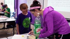 Learning about fizzy propulsion in Transforming Flight: Re-Engineering the Future! (entering grades 1-4), June 23-26
