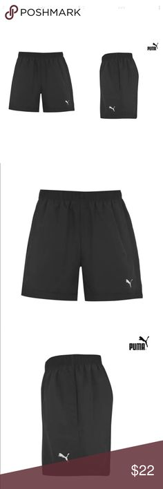 Puma men's essential woven shorts mesh lining Puma Essential Woven Mens Shorts  These Puma Essential Woven Shorts are a essential must have! They are constructed with a mesh lining to provide breathability and have a discreet internal drawstring to assist in giving you a secure snug fit. > Shorts  > Mesh lining  > Two pockets  > Internal drawstring > Puma branding > Machine washable > 100% polyester  > All sizes are US sizes Puma Shorts Athletic