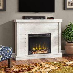 Millwood Pines Shiela Fireplace Shelf Mantel & Reviews   Wayfair Fireplace Mantel Surrounds, Fake Fireplace, Fireplace Shelves, Rustic Fireplaces, Farmhouse Fireplace, Fireplace Ideas, Mantel Shelf, Indoor Fireplaces, Mounted Fireplace