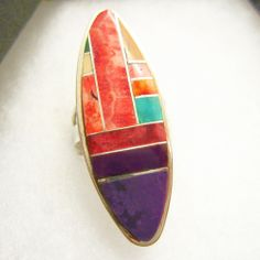Navajo Color Block Ring by Beyond Buckskin Boutique