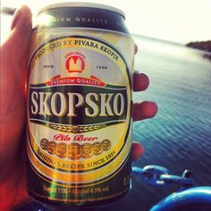 The best Macedonian beer, Skopsko - Named after the capital - Skopje Campbell's Soup Cans, Republic Of Macedonia, Drinking Around The World, The Republic, Albania, Eastern Europe, Montenegro, Bulgaria, Family History
