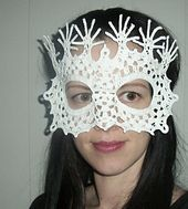 Ravelry: Peacock Lace Masquerade Mask pattern by Farrah for 365 Crochet