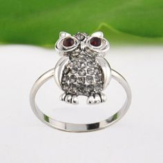 Stylish Owl Rhinestone Ring For Women #hats, #watches, #belts, #fashion, #style