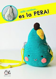 Cute mini bag- amigurumi pattern-Cartera pera de amigurumi by OhVillo on Etsy, €3.50
