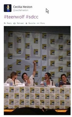 Mary Heston: Comic-Con: It's ON! Thursday Cecilia and I were front and center for the Teen Wolf panel at SDCC2014