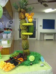 Pineapple tree for our Jungle babies themed baby shower.