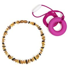 Baltic Amber Teething Necklace For Babies (Certified) & Bonus Silicone Teething Necklace - Natural Immunity Booster - Safe Teething - Reduces Drooling & Teething Pain http://amzn.to/2ba2bRb #BnMeBalticAmberTeethingNecklace