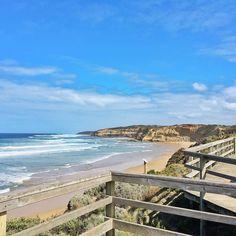 Last long training walk before the big 40km next weekend. Jan Juc you turned it on today. #surfcoast #surfcoasttrek #Torquay #janjuc #coastalwalk #surfcoastwalk #beach #ocean #waves #bells by binny_langler http://ift.tt/1N3tJAU
