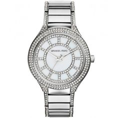 Michael Kors Watches Kerry Watch MK3311 (€255) found on Polyvore featuring jewelry, watches, bracelets, accessories, silver, stainless steel jewellery, water resistant watches, stainless steel bracelet, bezel bracelet and bracelet jewelry