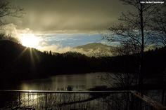 Sonnenuntergang Stausee in Mitterbach