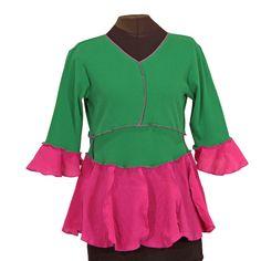 Comforteria shirt in parrot green and fuchsia pink — Medium - Secret Lentil Clothing