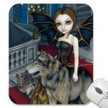 """Wolf Manor"" Mousepad by strangeling  Jasmine Becket-Griffith"