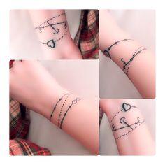 #tattoo #bracelettattoo Bracelet Tattoo  Small tattoo #smalltattoo #girltattoo #love