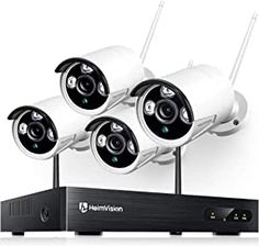 The security cameras are paired with the NVR system at the manufacturing site. Just power on and serve yourself with 24/7 surveillance. Perfect for villa, home, office, shop, hotel, warehouse, school, business, or elsewhere you wish. (❤Note: All Cameras Need to Be Plugged In the Power Supply/Outlet for 24/7 Recording) 【Weatherproof Security Camera】Records in 1080P HD to capture crisp images, provide HD live video, ensures smooth footage day and night with 2MP security cameras. Best Home Security Camera, Wireless Security Camera System, Wireless Ip Camera, Home Security Camera Systems, Wireless Home Security, Bullet Camera, Spy Camera, Home Monitoring System, Remote Viewing