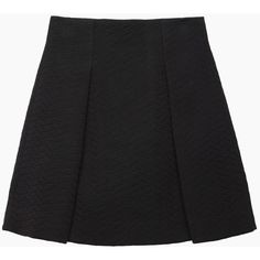 Proenza Schouler Jersey Topstitched Skirt ($340) ❤ liked on Polyvore featuring skirts, high-waist skirt, proenza schouler, side slit skirt, high waisted knee length skirt and high-waisted full skirts