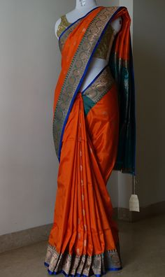 New Latest Designer Printed Orange Colour South Silk Indian Saree. New Latest Designer Printed Orange Colour South Silk Indian Saree. Product Details * Fabric : South Satin silk * Actual Color…More Elegant Indian Sari Click VISIT link to see Mysore Silk Saree, Indian Silk Sarees, Indian Beauty Saree, Designer Silk Sarees, Indian Designer Wear, Saree Blouse Patterns, Saree Blouse Designs, Indian Dresses, Indian Outfits