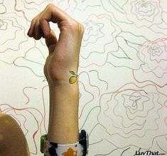 lemon wrist tattoo