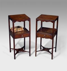 Pair of Georgian bedside tables
