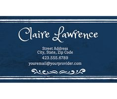Download this Antique Blue Business Card Template and other free printables from MyScrapNook.com
