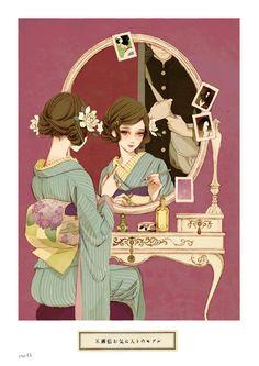 Japan Illustration, Manga Anime, Manga Art, Female Character Design, Character Art, Poses References, Chernobyl, Japan Art, Samurai