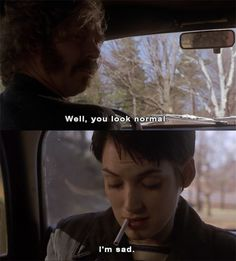 loss and absence / winona ryder in girl interrupted Winona Ryder, Girl Interrupted Quotes, The Rocky Horror Picture Show, Movie Lines, Im Sad, Film Quotes, Cinema Quotes, Quotes Quotes, Film Stills