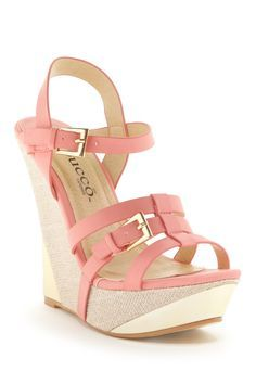 c29c56f4f6d6 Bucco Susan Wedge Sandal Pink Wedge Sandals