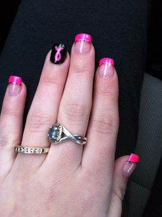 BREAST CANCER NAIL ART DESIGNS WITH PINK RIBBON