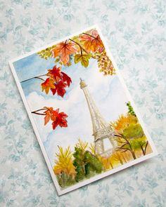 Cartolina dipinta a mano ad acquerello #craftroad #handmadecard #watercolour